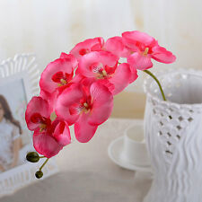 Artificial Butterfly Orchid Silk Flower Bouquet Phalaenopsis Wedding Home Decor#