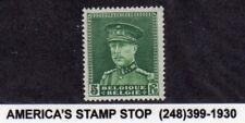 1931-1932 Belgium SC 235 MLH Mint, King Albert in Uniform Type - 5fr Deep Green*