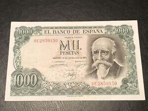 Spain 1971 1000 Pesetas Banknote