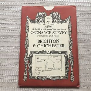 Sheet 87 Reprint Of First Edition Ordnance Survey Map Brighton & Chichester