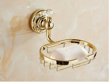 Bath Shower Soap Dish Basket Holder Bathroom Wall Mounted Hanger Shelf Storage