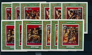 [342095] Aitutaki 1984 Christmas good set 4 very fine MNH sheets X3