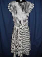 VTG Black Gray Stripe Sleeveless Dress Retro Grey Retro