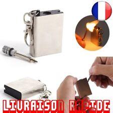 Allume Feu Pierre Camp Métal Camping Starter Cigarette Sans Gaz Huille Firesteel