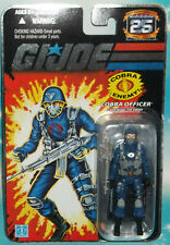 G I GI JOE 25TH ANNIVERSARY FOIL CARD COBRA OFFICER FIGURE