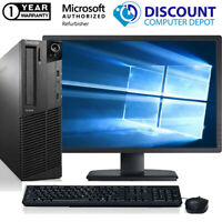 "Lenovo Desktop Computer PC Core i3 16GB 2TB 512GB SSD 22"" LCD Windows 10 Wifi"