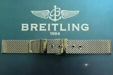 18MM HEAVY S/S FLAT LINK MESH WATCH BAND WATCHBAND BRACELET STRAP FOR BREITLING