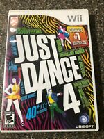 Just Dance 4 (Nintendo Wii) - Complete w/ Manual - Clean & Tested - Free Ship