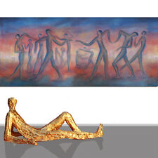 PAINTING ABSTRACT LARGE # ORIGINAL ART NEW HUMAN DANCER WALL DECOR RED * 80 x 40