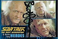BRENT SPINER SIGNED 2013 STAR TREK HEROES & VILLAINS #46 DR. SOONG - CONVENTION