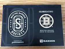 2018-2019 Boston Bruins Stanley Cup Run Season Suite Full Ticket Stub- Pick One