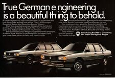 1986 VW VOLKSWAGEN Quantum Silver Sedan, Syncro Wagon Centerfold VTG PRINT AD