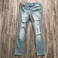 NY Company SOHO women's sz 12 jeans skinny distressed stretch