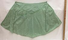 Apron Green Gingham Cotton Waist Ties With One Pocket Rick Rack at Hem and Trim
