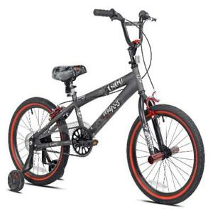 18inch BMX Bike Boys/Girls Abyss Training Wheels Kid Ride SingleSpeed Brake Gray