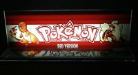 """Pokemon Red Version Backlit 4"""" x 11"""" Marquee w/ The Arcade Light Box Display"""