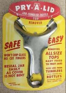OLD Pry A Lid Canning Jar Opener Bottle Top Remover Tumbler NEW STOCK Vintage...