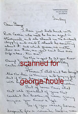 DAVID MANNERS - LETTER - AUTOGRAPH - 1945 - CUKOR - THINNING HAIR - DRACULA