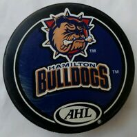 HAMILTON BULLDOGS AHL OFFICIAL VEGUM GAME PUCK MADE IN SLOVAKIA