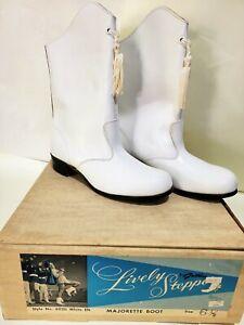 Vintage Gotham Lively Stepper Majorette Boots White Elk