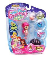 Splashlings Luminos Glow in Dark 6 Pack Mermaid + 4 Splashlings + 1 in Shell NEW