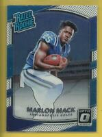 Marlon Mack RC 2017 Donruss Optic Rated Rookie Card Indianapolis Colts Football