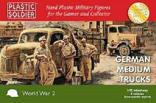 Plastic Soldier 1/72 German German Medium Trucks x 3.