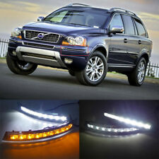 2X White LED DRL Daytime Running Light Lamp 12V for Volvo XC90 2007-2013 Car