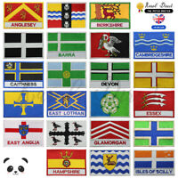 UK County Flags Embroidered Sew/Iron On Patch Badge For Clothes Etc