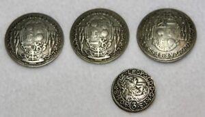 4 Max Gandolf von Kuenburg Silver Buttons