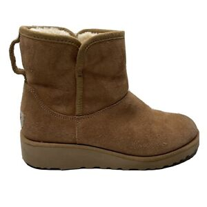 Ugg Boots 1012497 Christine Mouton Womens Size 6.5 6 1/2 Suede Lined Shoes Brown