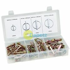 50pc Lynch Pin Locking Pin Clip Assortment Set For Trailers Tractor Linchpin