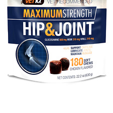VETIQ Maximum Strength Hip and Joint Supplement for Dogs 180 Count