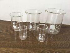 GG17 Chemistry Borosilicate Glass Beaker,5 Piece Set 5 10 25 50 100ml