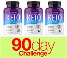 Nutra Keto Advanced Perte Poids (180 Capsules) Cétose / Keto Diet / Perte Poids