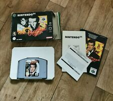 N64 Goldeneye Nintendo 64 game by rare. Classic retro video game. Bond 007