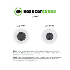 Headset Buddy 2.5mm VoIP Headset to RJ9/RJ10/RJ22 Phone Adapter