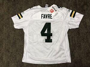 Vtg Brett Favre Green Bay Packers NFL Reebok Football Jersey Ladies Large White