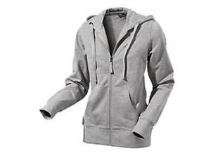 Women's Sweatjacket Hoody Tracksuit Top Jacket Hoodie Grey SIZE S 36/38