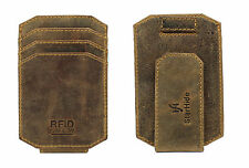 Starhide da uomo RFID Blocco Forte Magnete Money Clip Vera Pelle Carholder 725