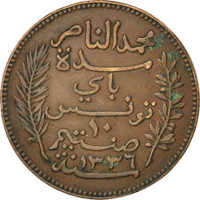 [#75463] Tunisia, 10 Centimes, 1917, Paris, Km #236, Ef(40-45), Bronze, Lecompte
