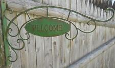 Metal Double Sided WELCOME Sign on Bracket -Business Restaurant Home Decor