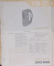 Grabadora De Cassette Sony TCM-121 Manual de taller de reparación de servicio (copia Original)