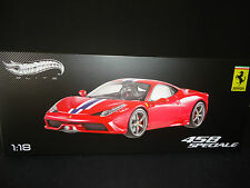 Hot Wheels Elite Ferrari 458 Speciale Red BLY31 1/18 Limited Edition