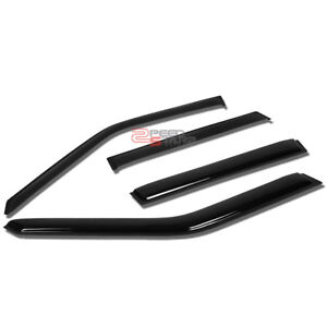FOR 93-97 VOLVO 850 P80 SMOKED OUTSIDE MOUNT WINDOW VISOR WIND RAIN DEFLECTOR