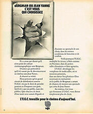 PUBLICITE ADVERTISING 104  1974   UGC   travaille pour le CINEMA