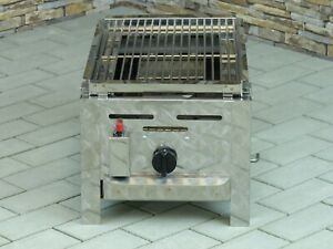 Lavasteingrill für Propangas - 1 flammiger Gasgrill Made in Germany