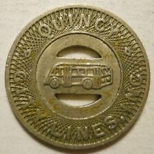 Quincy City Lines (Illinois) transit token - IL720H