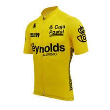 Retro Caja Postal Reynolds Cycling Jersey mens team cycling Short Sleeve jersey
