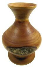 "Wood Bark Vase Handcrafted Bush Art 17.5 cm / 6¾"""